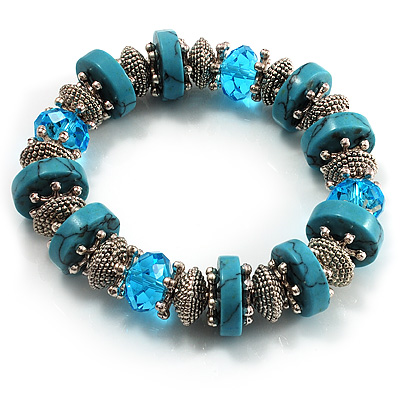 Stunning Turquoise Bead Flex Bracelet - main view