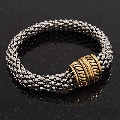 Two-Tone Mesh Magnetic Bracelet - up to 19cm wrist