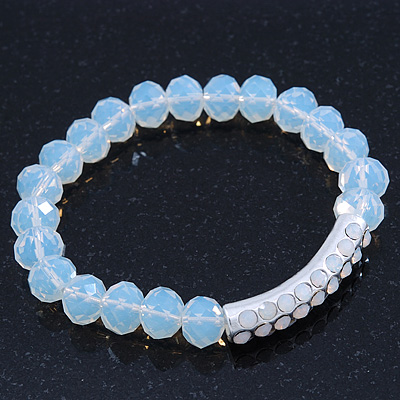 White Mountain Crystal and Swarovski Elements Stretch Bracelet - Up to 20cm Length - main view