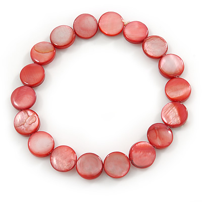 Red Sea Shell Flex Bracelet - Adjustable up to 20cm L