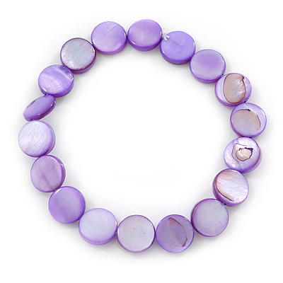 Purple Sea Shell Flex Bracelet - Adjustable up to 20cm L