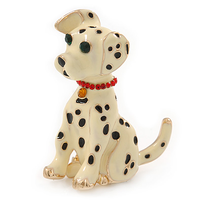 Dalmatian Dog Costume Brooch