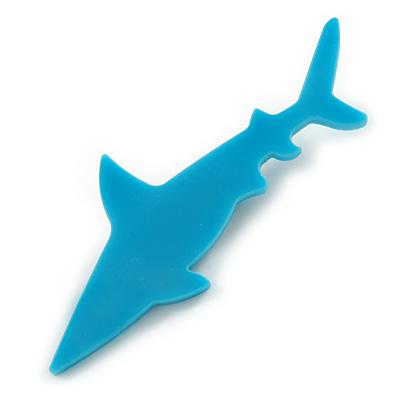 Teal Acrylic Shark Brooch