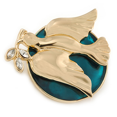 Gold Plated 'The Dove Of Peace' Brooch