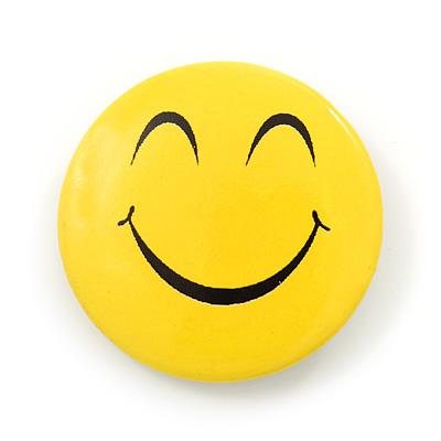 Dreamy Smiling Face Lapel Pin Button Badge - 3cm Diameter