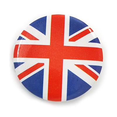 Union Jack Flag Lapel Pin Button Badge - 3cm Diameter - main view