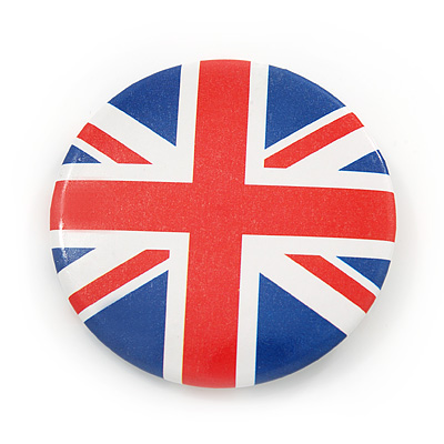 Union Jack Flag Lapel Pin Button Badge - 4.5cm Diameter