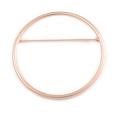 1db8c9362ca Contemporary Large Open Cut Circle Brooch In Matt Rose Gold Tone - 70mm  Diameter