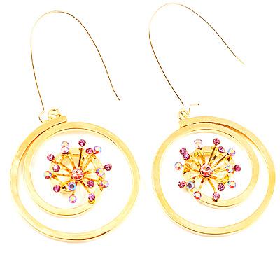 Gold Vortex Hoop Earrings - main view
