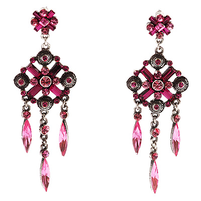 Violet Chandelier Fashion Earrings - avalaya.com