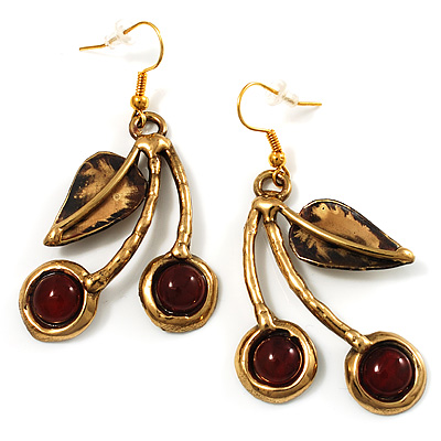 Ethnic Cherry Handmade Drop Earrings