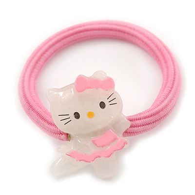 "Kids ""Little Kitty Ballerina"" Pony Tail Hair Elastic/Bobble"