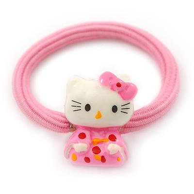 "Kids ""Little Kitty Kimono"" Pony Tail Hair Elastic/Bobble"