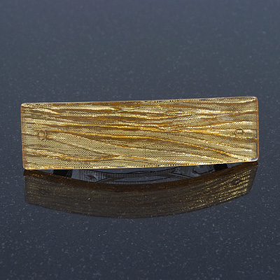 Gold Glittering Acrylic Barrette Hair Clip Grip - 85mm Across