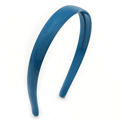 Teal Blue Polished Acrylic Alice/ Hair Band/ HeadBand