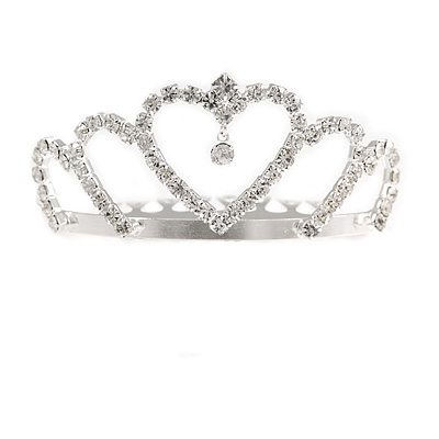 Fairy Princess Bridal/ Wedding/ Prom/ Party Silver Tone Crystal Mini Hair Comb Tiara - 65mm