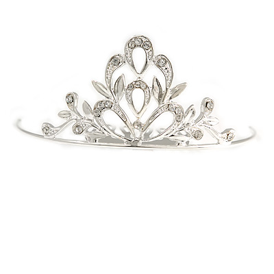 Fairy Princess Bridal/ Wedding/ Prom/ Party Silver Tone Crystal Mini Hair Comb Tiara - 55mm