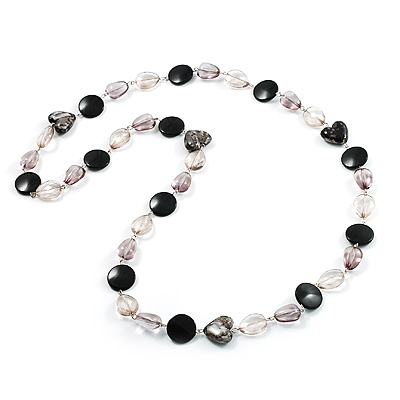 Stunning Dramatic Heart Shape Resin Beaded Necklace