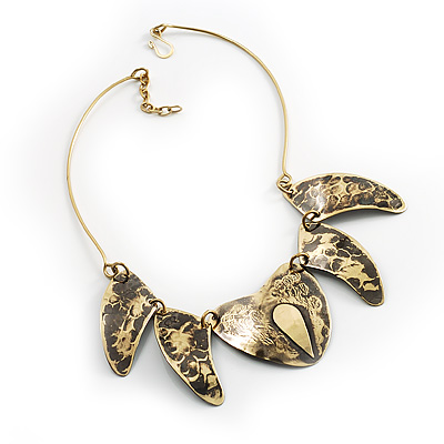 Brass Snake Pattern Ethnic Choker Necklace