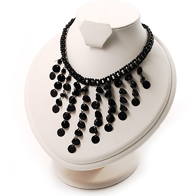 Black Gothic Sequin Fashion Choker Necklace - main view