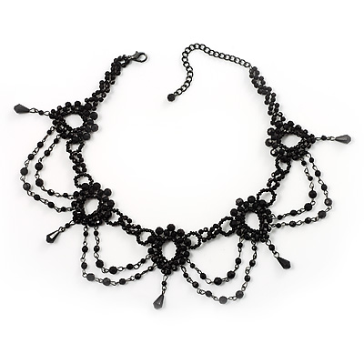 Black Beaded Choker - main view