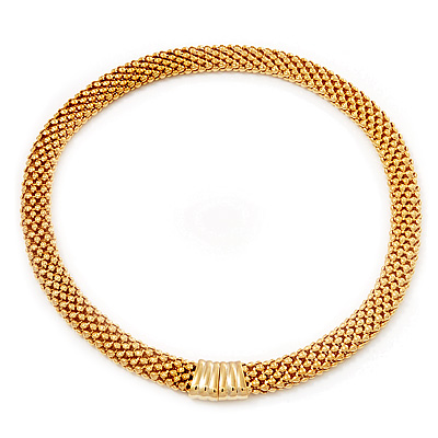 Gold Plated Mesh Magnetic Choker Necklace - 40cm length