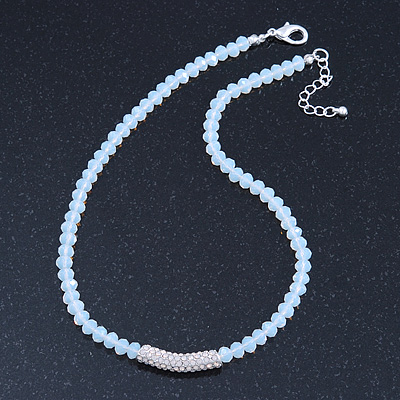 White Mountain Crystal and Swarovski Elements Choker Necklace - 36cm Length (5cm extension) - main view