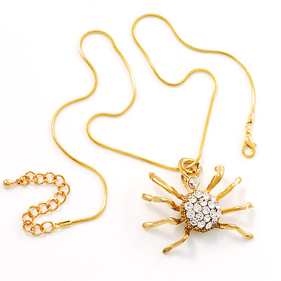 Gold Tarantula Pendant - main view