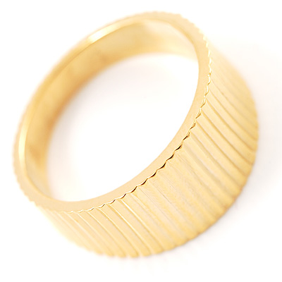 Gold Embossed Costume Ring