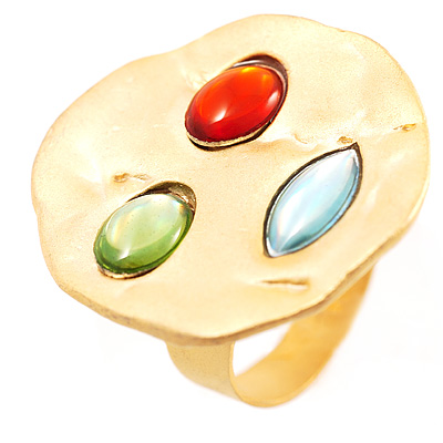 Tricoloured Disk Ring