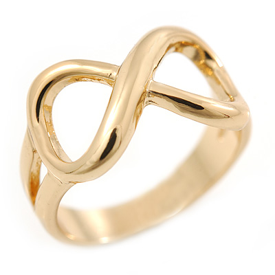 Gold Plated 'Infinity' Ring - Size 7