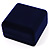 Dark Blue Velour Flip Top Bracelet  Box