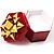 Glitter Burgundy Bow Ring Jewellery Box - view 2