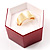 Glitter Burgundy Bow Ring Jewellery Box - view 3
