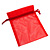 Organza Drawstring Pouch 15x20cm - Red - view 1