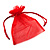 Organza Drawstring Pouch 15x20cm - Red - view 2