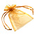 Organza Drawstring Pouch 15x20cm - Golden - view 2