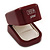 Wooden Style Dark Burgundy Ring Box - view 5