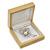 Luxury Wooden Natural Pine Jewellery Presentation Box (Earrings, Pendant, Brooch) - view 4