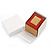 Light Brown/Beige Leatherette/Wood Stud Earrings Box - view 6