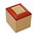 Light Brown/Beige Leatherette/Wood Stud Earrings Box - view 3