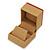 Light Brown/Beige Leatherette/Wood Stud Earrings Box - view 7