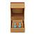 Light Brown/Beige Leatherette/Wood Stud Earrings Box - view 8
