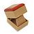 Light Brown/Beige Leatherette/Wood Stud Earrings Box - view 4