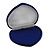 Luxury Blue Velour Jewellery Set/ Necklace/ Brooch/ Pendant/ Earring/ Comb Heart Jewellery Box (Necklace Not Included) - view 8