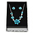 Black/White Card Pendant & Earrings Set Necklace & Earring Set/ Earring & Ring Set Box/ - view 3