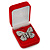 Luxury Red Velour Brooch/ Pendant/ Earring Jewellery Box - view 4