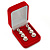 Luxury Red Velour Brooch/ Pendant/ Earring Jewellery Box - view 5