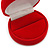 Red Velour Round Ring Jewellery Box - view 3