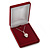Luxury Burgundy Red Velour Brooch/ Pendant/ Earring/ Hair Accessories Jewellery Box - view 5